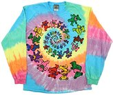 Liquid Blue Men's Spiral Bears Tie Dye Long Sleeve T-Shirt