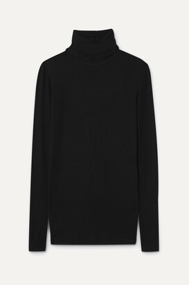 ATM Anthony Thomas Melillo Ribbed Stretch-micro Modal Turtleneck Top - Black