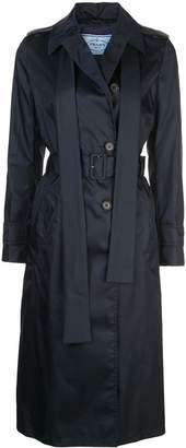 Prada double breasted belted trench