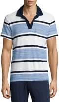 Orlebar Brown Terry Towel Striped Short-Sleeve Polo Shirt