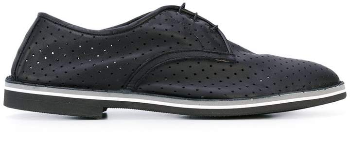 Baldinini perforated decoration derby shoes