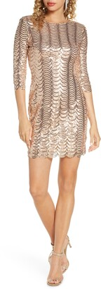 Lulus Stardust Sequin Body-Con Minidress