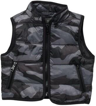 Urban Republic Camo Print Reversible Puffer Vest