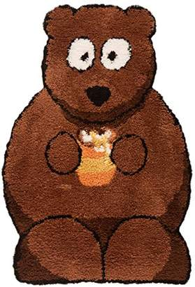 Camilla And Marc Just Contempo Kids Bear Nursery Rug, Brown, 60x90 cm