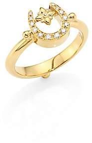 Temple St. Clair Women's Mini Horseshoe Diamond & 18K Yellow Gold Ring