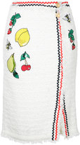 Muveil embroidered skirt - women - Cotton/Nylon/Polyester - 38