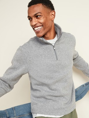 Old Navy Sweater-Fleece Mock-Neck 1/4-Zip Sweatshirt for Men