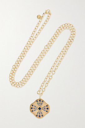 Marlo Laz Guiding Light 14-karat Gold Sapphire Necklace - one size