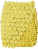 Topshop Woven Pattern Mini Skirt