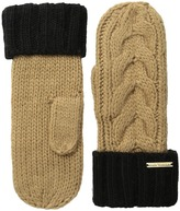 MICHAEL Michael Kors Color Block Handknit Cable Mitten Over-Mits Gloves