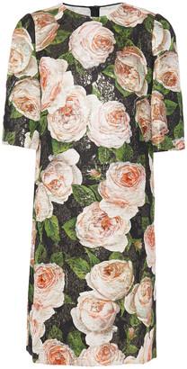Dolce & Gabbana Metallic Cotton-blend Brocade Dress