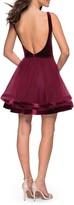 Thumbnail for your product : La Femme Velvet & Tulle Cocktail Dress