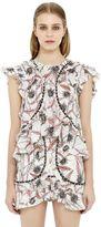 Isabel Marant Floral Printed Gauze Ruffled Top