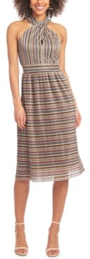 Rachel Roy Crossneck Keyhole Dress