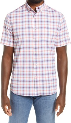 Southern Tide Intercoastal Window Plaid Classic Fit Short Sleeve Button-Down Shirt