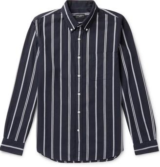 Club Monaco Slim-Fit Button-Down Collar Striped Cotton-Twill Shirt