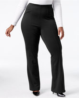 INC International Concepts Plus Size Ponte Bootcut Pants, Only at Macy's