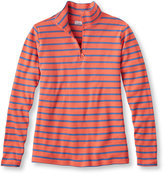 L.L. Bean French Sailor's Shirt, Quarter-Zip Pullover