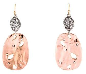 Alexis Bittar Crystal Rocky Disc Drop Earrings