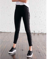 Express high waisted hook and eye leggings