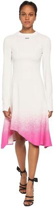Off-White Degrade Techno Jersey Midi Dress