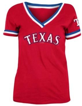 5th & Ocean Texas Rangers Women's Contrast Binding T-Shirt