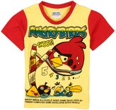 Tiful Angry Birds Little Boys Summer Short Sleeve Cartoon Printing Cotton T Shirts