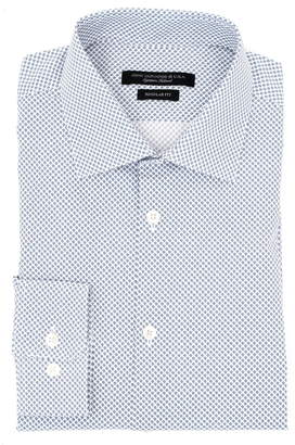 John Varvatos Trim Fit Wrinkle Resistant Print Dress Shirt