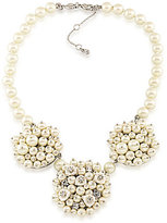 Carolee 21 Club Mother-of-Pearl Cluster Statement Necklace