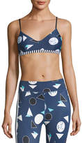 The Upside Match Point Ballet Scoop-Neck Printed Sports Bra