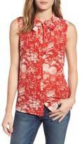 Lucky Brand Women's Tie Neck Floral Silk Tank
