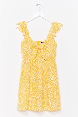 Nasty Gal Womens Plant Shake the Feeling Floral Mini Dress - Yellow