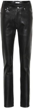 Balenciaga High-rise leather pants