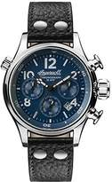 Ingersoll Men's The Armstrong Quartz Watch with Blue Dial and Black Leather Strap I02001