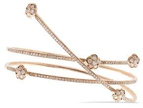 Pasquale Bruni 18K Rose Gold Figlia dei Fiori White & Champagne Diamond Wrap Bracelet