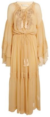 Etro Tiered Chiffon Maxi Dress