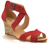 Shoes of Prey Crisscross Strap Wedge Sandal (Women)