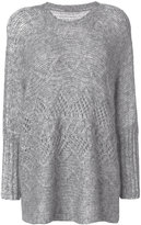 Ermanno Scervino loose fit jumper - women - Cotton/Polyamide/Wool/Alpaca - S