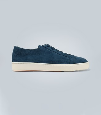 Santoni Suede low-top sneakers