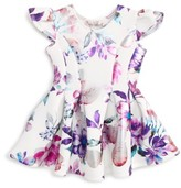 Halabaloo Infant Girl's Floral Print Scuba Dress