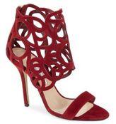 Oscar de la Renta Colu Open-Toe Leather Cage Sandals