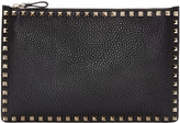 Valentino Black Leather Rockstud Pouch