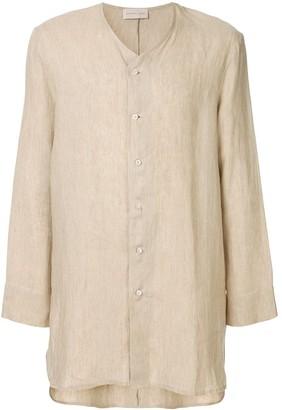 Sartorial Monk Side Slits Tunic Shirt