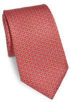 Salvatore Ferragamo Gancini Printed Silk Tie
