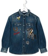 Dolce & Gabbana Western patch denim shirt