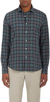 Hartford Men's Plaid Cotton Flannel Button-Front Shirt