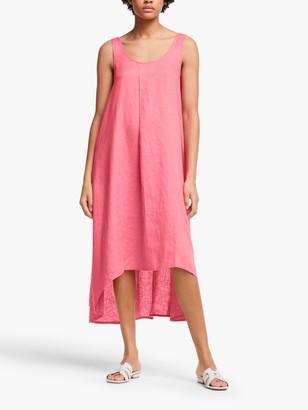John Lewis & Partners Scoop Back Linen Dress, Rose