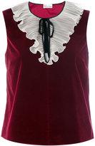 RED Valentino velvet tank top - women - Silk/Cotton/Polyester/Acetate - 42
