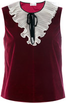 RED Valentino velvet tank top