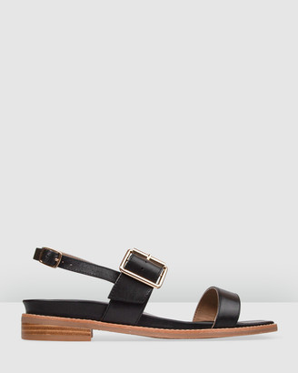 Bared Footwear - Women's Black Sandals - Tit Flat Sandals - Women's - Size One Size, 35 at The Iconic